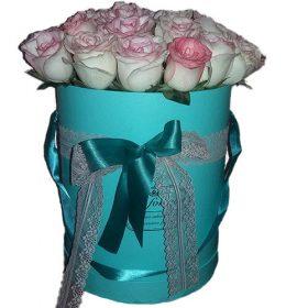 """товар 21 троянда """"Джумілія"""" в коробочці"""