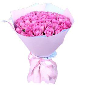 """букет 35 троянд """"Аква"""""""