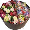 товар Коробочка з кіндерами та квітами