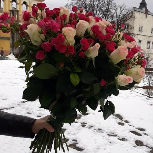 большой букет роз фото