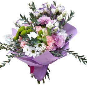 Букет «Прекрасное» микс хризантем
